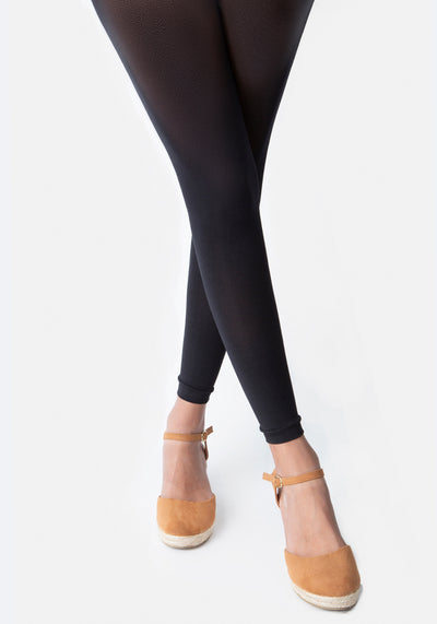 Premium 50 Denier Footless Tights Black