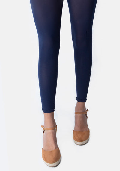 Premium 50 Denier Footless Tights Navy