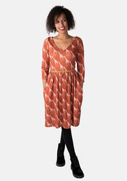 Freddy Giraffe Print Dress Rust