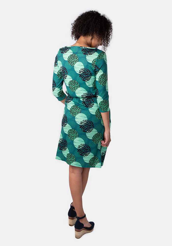 Anthea Green Spot Print Dress