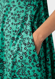 Angelica Green Floral Print Dress