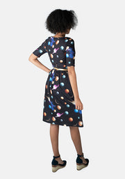Jayla Planet Print Dress