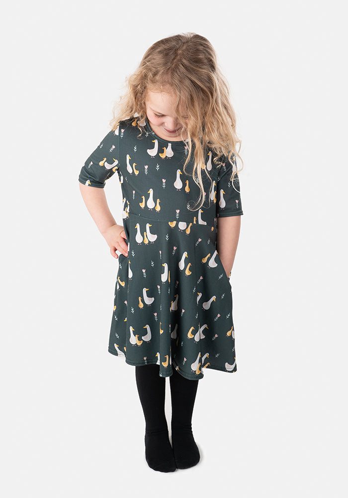 Fable Children's Geese Print Dress