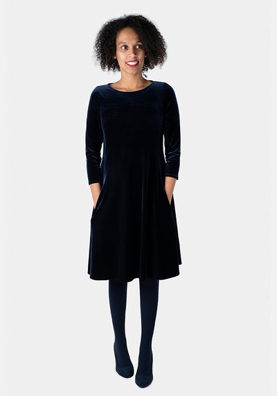 Rayne Midnight Velvet Dress