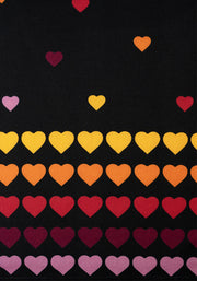 Miriam Black Rainbow Heart Print Dress