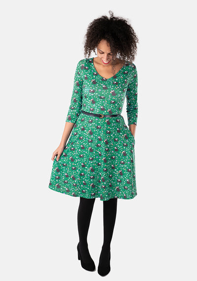 Paisley Badger Print Dress