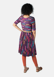 Parker Reversible Pencil Print Dress