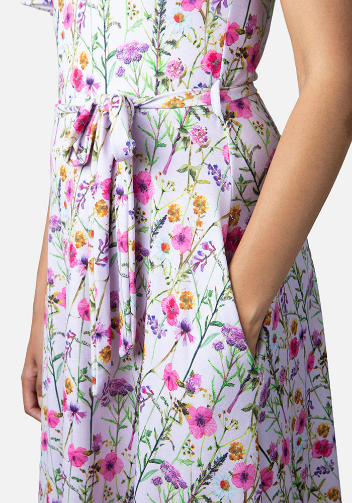 Kayla Lilac Floral Print Dress