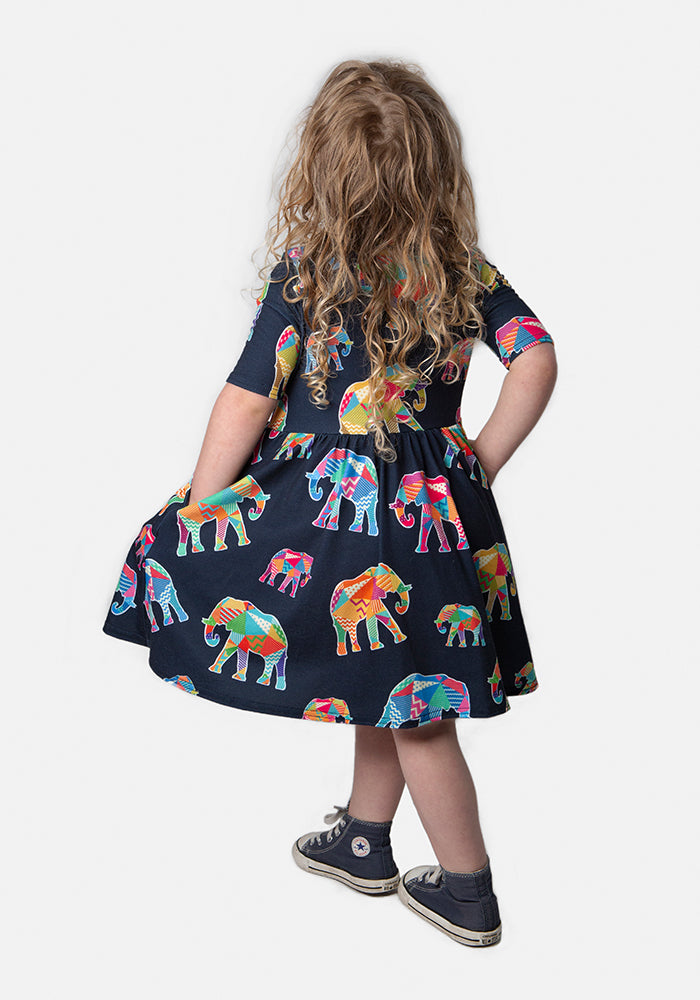 Missy Children's Elephant Print Dress
