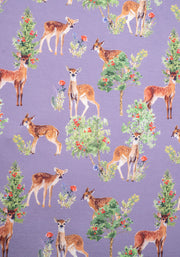 Dollie Lilac Deer Print Dress