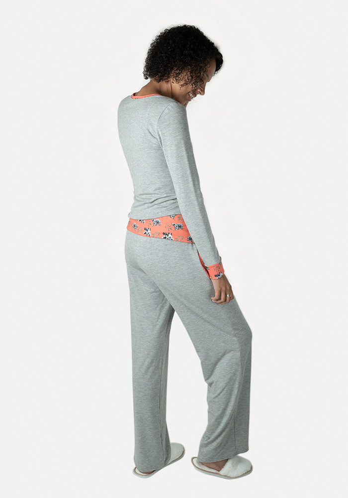 Rowan Grey Koala Loungewear Set