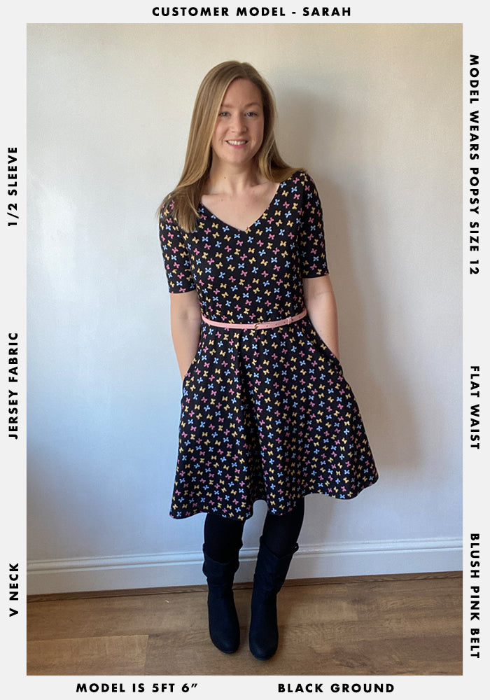 Kenzie Bow Print Dress