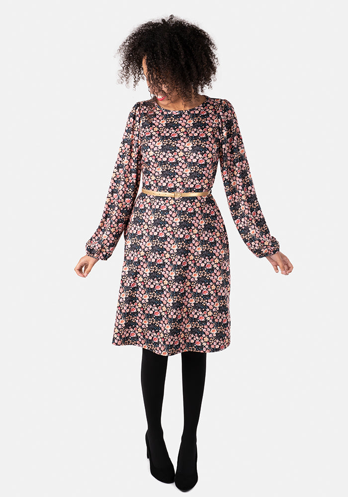 Sibyl Meadow Ditsy Floral Print Dress