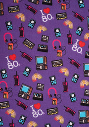 Sinead Purple 80's Print Dress