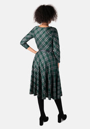 Tara Green Tartan Swing Dress