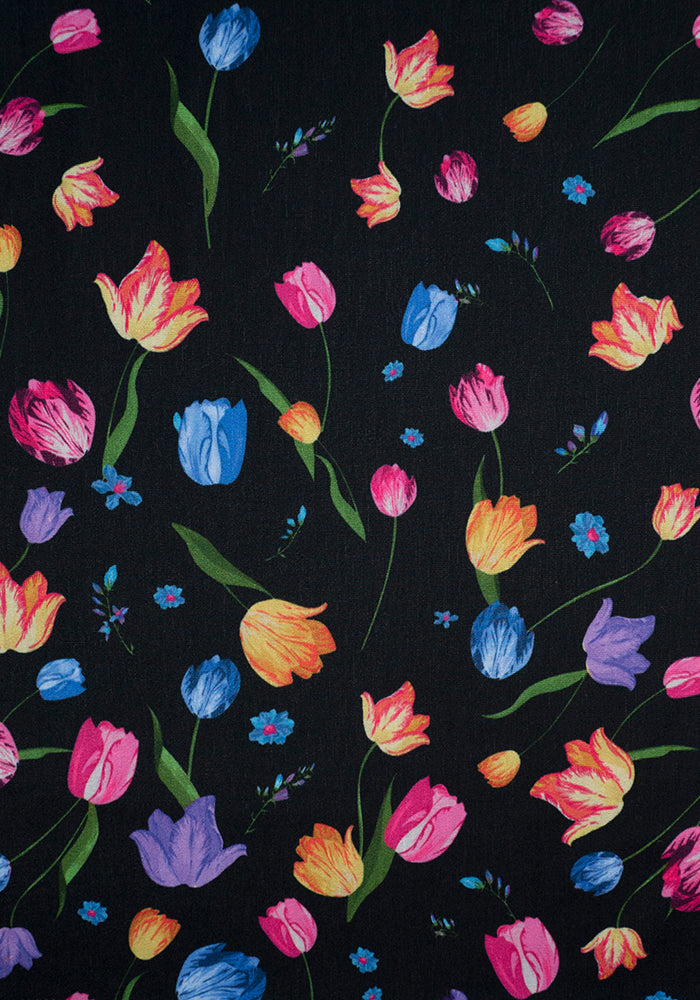 Terri Tulip Border Print Dress