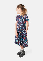 Children's Umbrella Print Dress (Tyler)