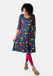 Velma Dinosaur Print Dress