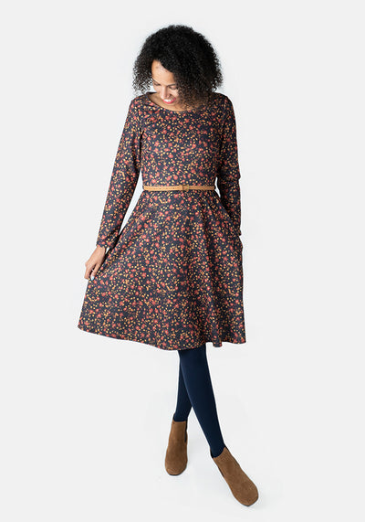 Willa Autumn Floral Print Dress