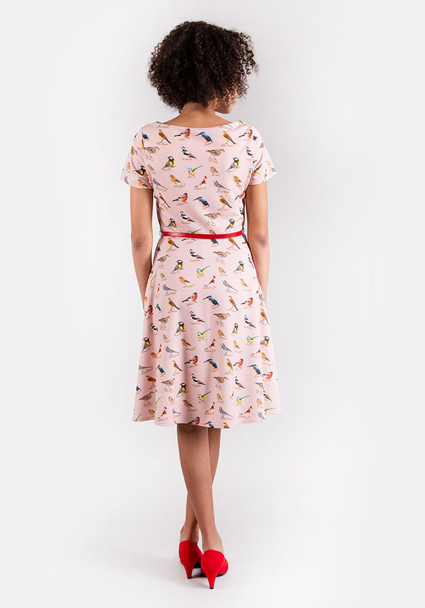 Birdie Pink Bird Print Dress