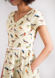 Bryony Yellow Bird Print
