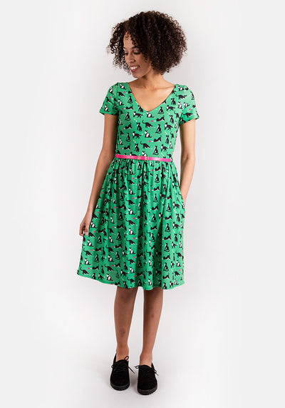 Cassie Cat Print Dress