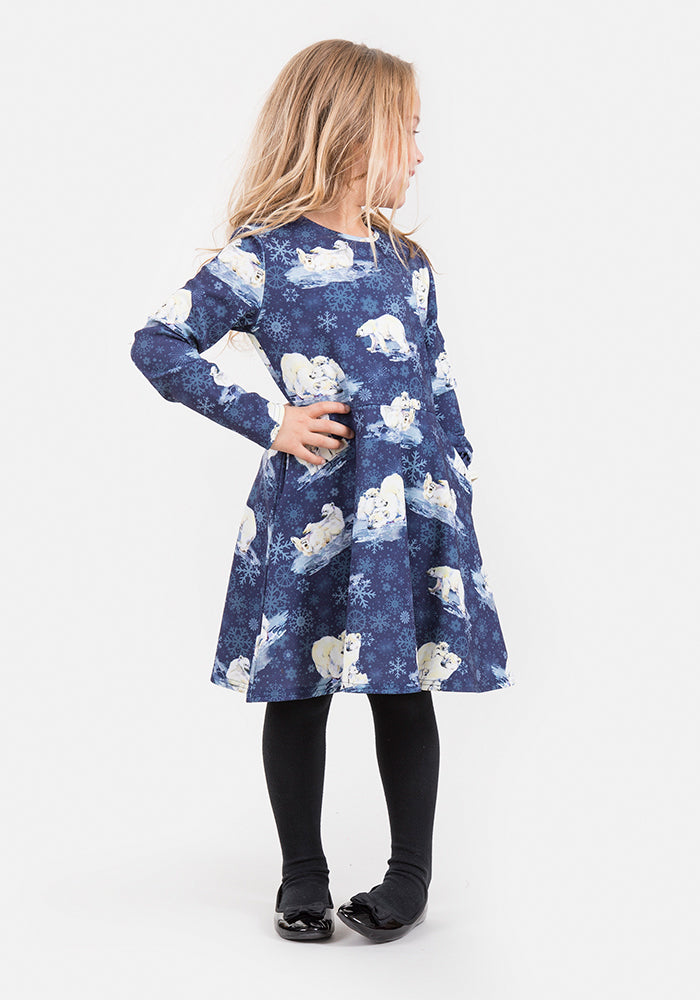 Alaska Polar Bear Print Dress