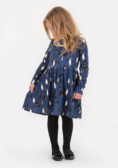 Pipper Children's Penguin Print Dress