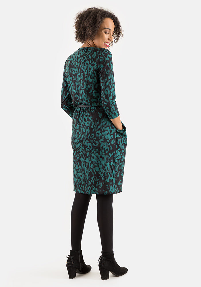 Milly Green Animal Print Dress