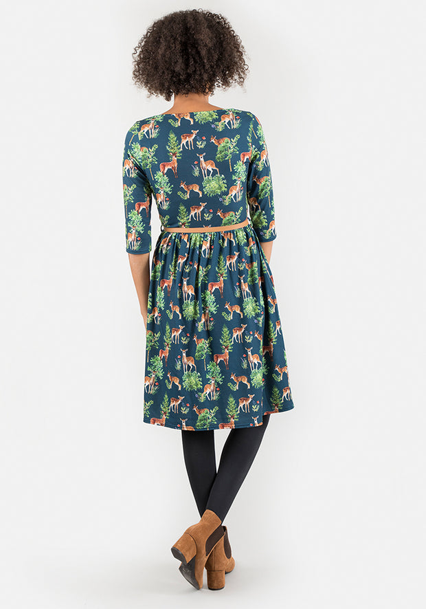 Darlene Deer Print Dress
