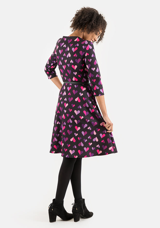 Nicole Heart Print Dress