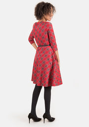 Tessa Red Tartan Dress