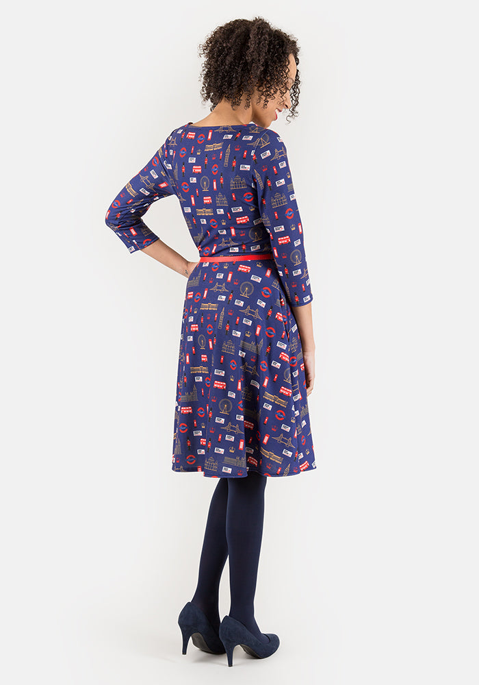 Brittney London Print Dress