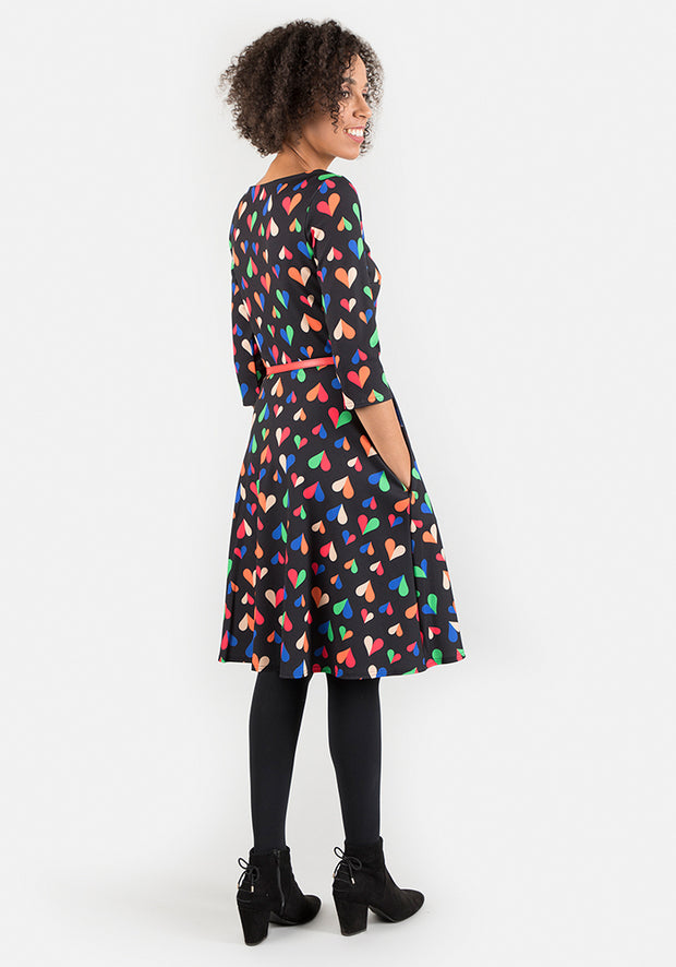 Adaline Heart Print Dress
