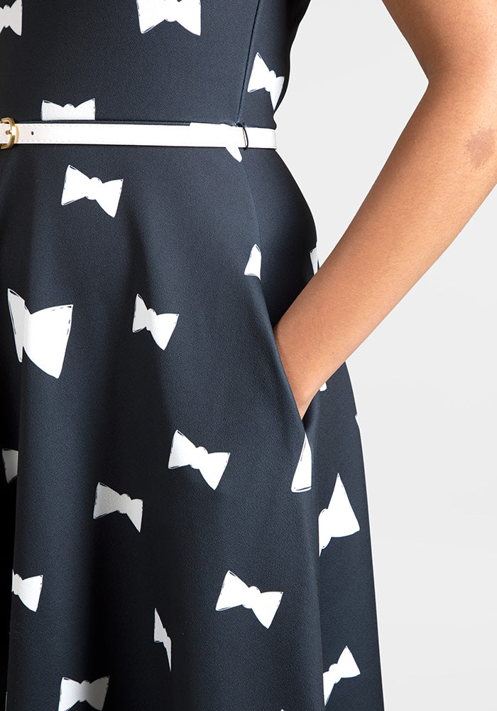 Katy Bow Print Dress