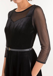Julia Black Velvet Dress