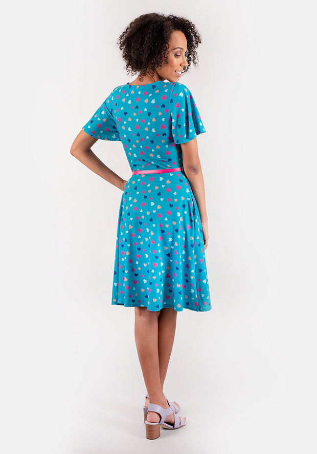 Heather Heart Print Dress