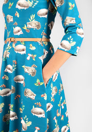 Hetty Hedgehog Print Dress