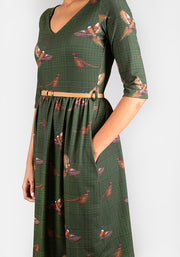 Phyllis Pheasant Print Dress