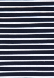 Shira Navy & White Stripe  Dress