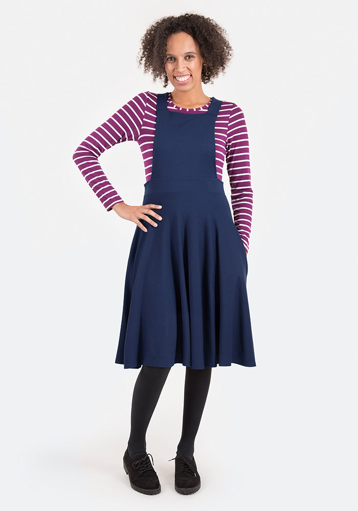 Polly Navy Pinafore & Top