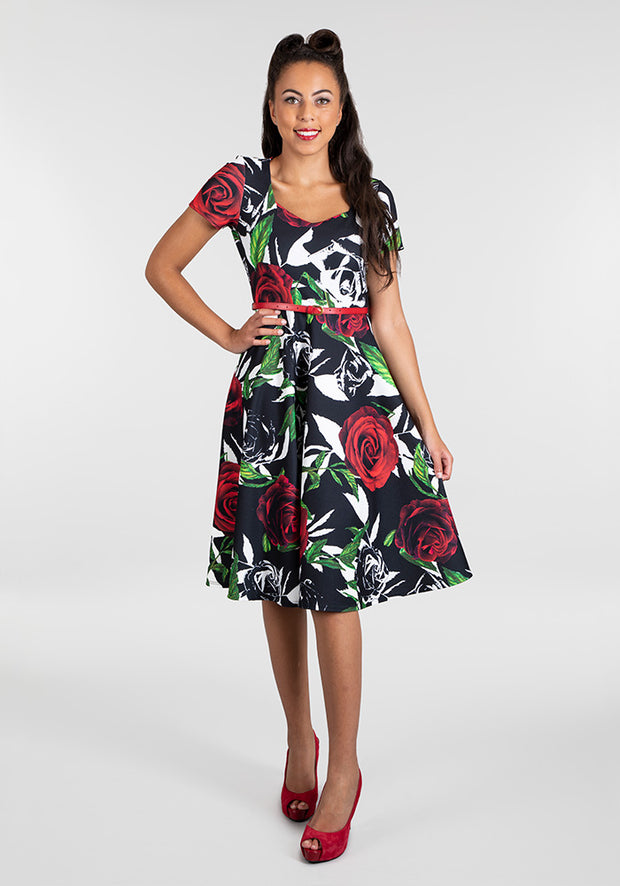 Roxanne Vintage Floral Dress
