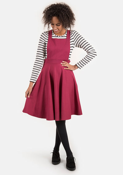 Polly Raspberry Pinafore & Top