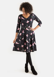 Stephanie Bird Print Dress