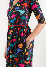 Cora Multicoloured Dinosaur Print Dress