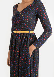 Emma Black Ditsy Heart Print Dress