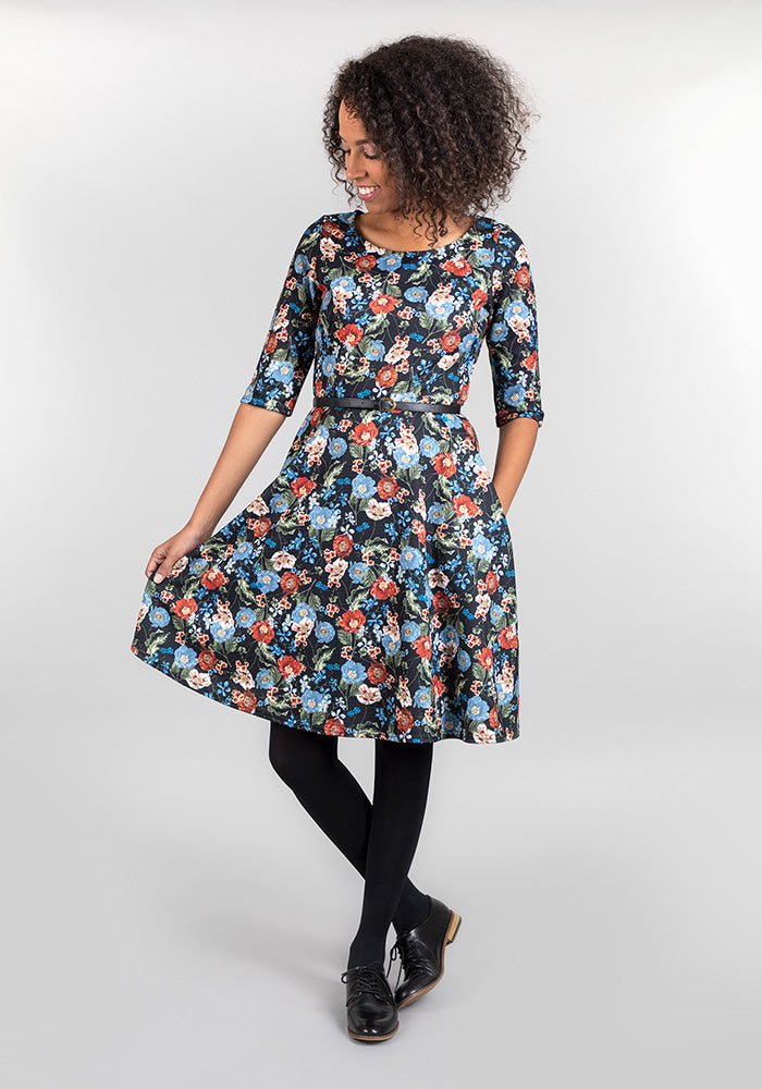 Rosie Antique Floral Print Dress