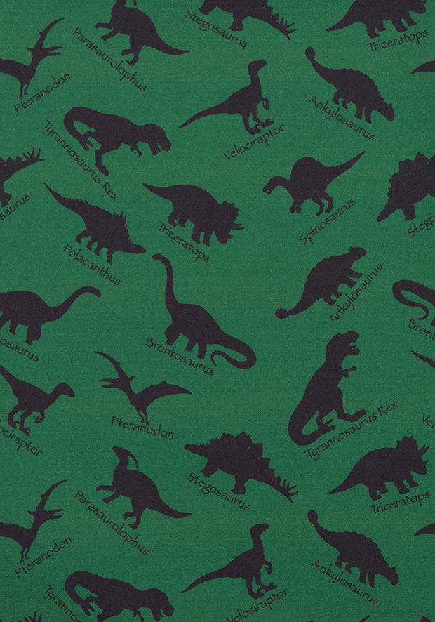Demi Green Dinosaur Print Dress