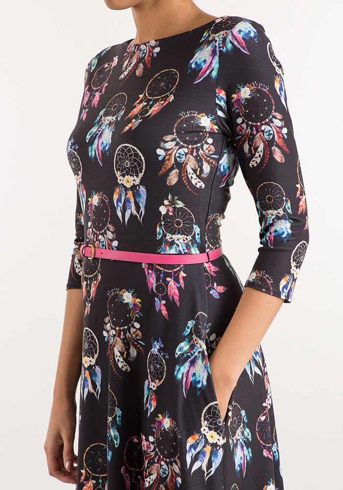 Destiny Dream Catcher Print Dress