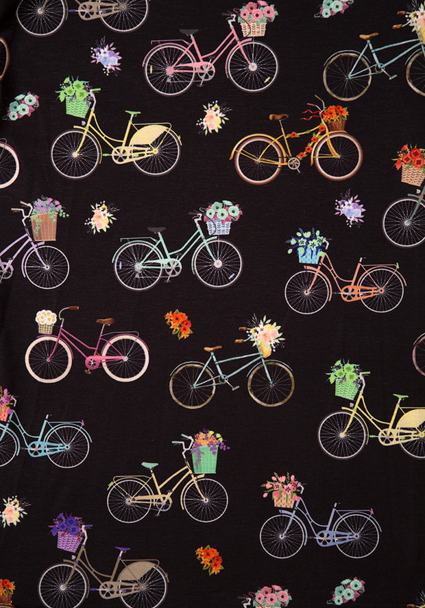 Bianca Bike & Floral Print Dress